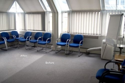 We always get fantastic results cleaning carpets in London offices and homes.