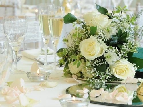 Wedding Table Flower Arrangement