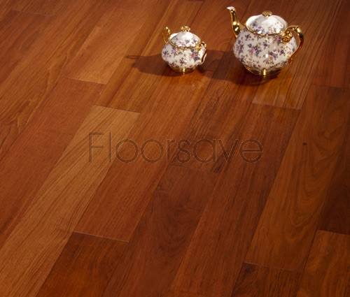 Multiply Lacquered Mixed Grade Engineered Jatoba Flooring - 130mm