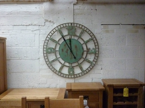 Large vintage wall clock - 99cm dia