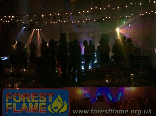 Large lighting set-up; Disco by Forest Flame