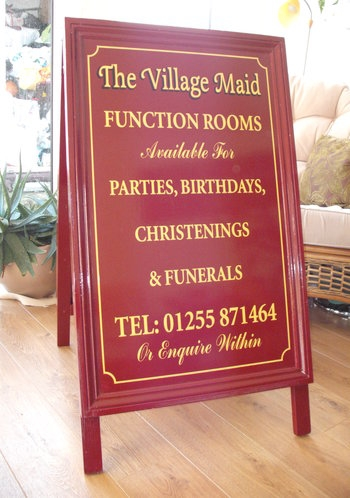 Hand made Wooden 'A' Board with Traditional Signwriting