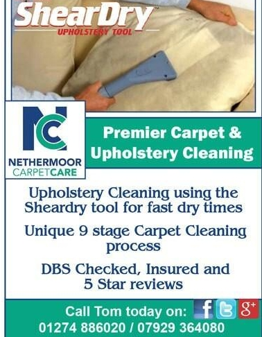 Rotovac Sheardry Tool for soft furnishings.  Fast drying times, great results.