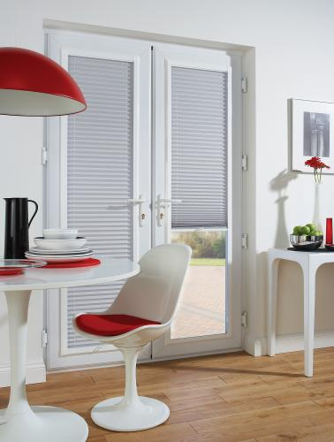 Pleated Blinds in windows, conservatories and the Intu System
