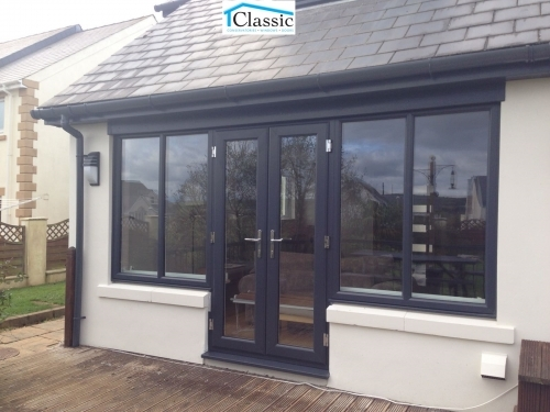French door and sidescreens