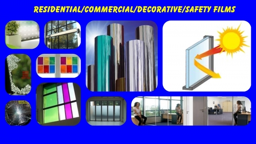 Residential/Commerical/Decorative/Safety Window Films