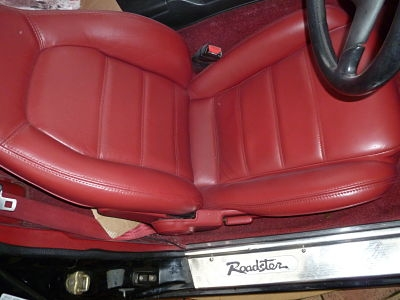 A Mazda MX5 seat after restoration