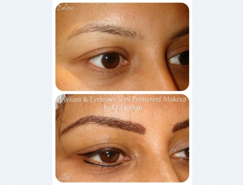 Eyebrows And Eyeliner Cosmetic Tattoo by El Truchan