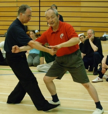 James Drewe with Master Wang