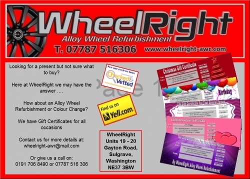 WheelRight - Gift Certificate Advert