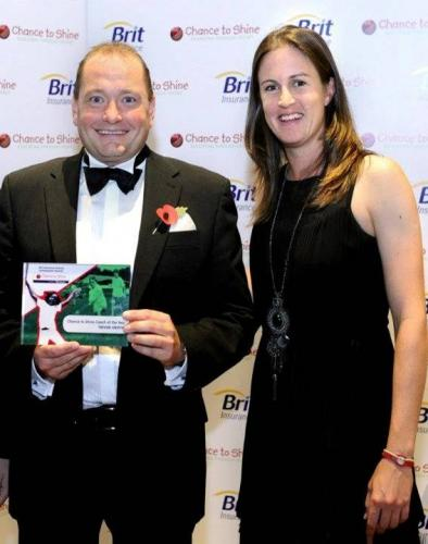 Chance to Shine National Coach of the Year 2011 with Lydia Greenway
