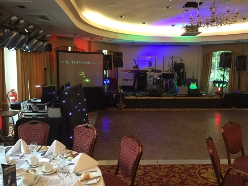 Disco and band set up with video