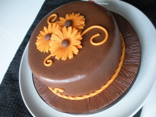Chocolate Orange Flower Cake