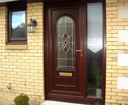Woodgrain Entrance door and side panel