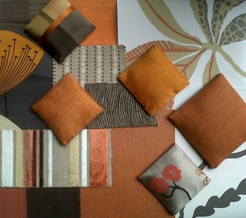 Decor schemes: Orange and Brown