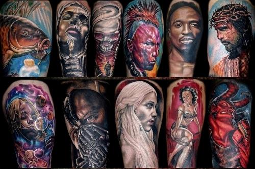 Portrait tattoo art Colours