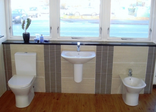 View our wide collection of Bathroom Suites in our Showroom
