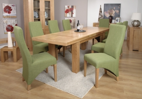 Grand Marseille Dining Table with Lime Baxter Chairs