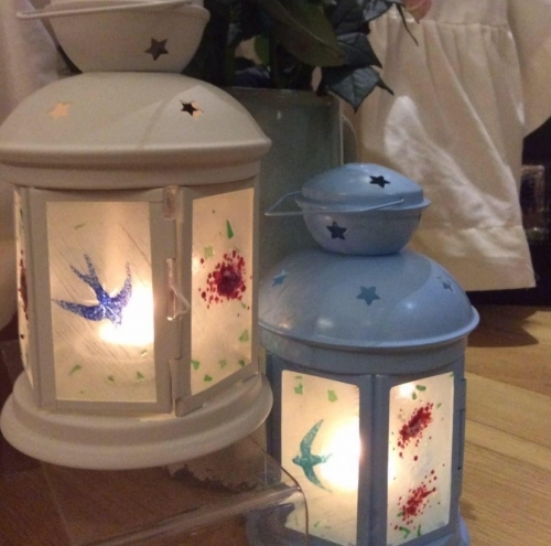 Glass Ornaments Lanterns~ many different shapes and design detail avaliable.