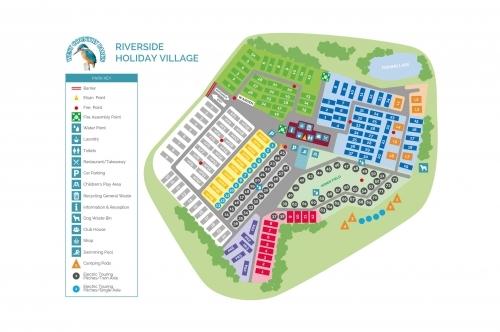 Riverside Holiday Village Map Illustration