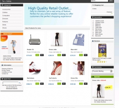 Sample eCommerce Website