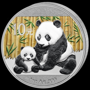 2012 Silver Panda 1oz Colour Obv
