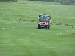 Weed Spraying Golf Course