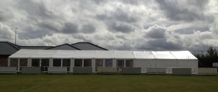 9m x 27m marquee at Huntingdon Town FC Marquee Hire Peterborough