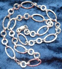 Fancy Silver Chain 24 Inch Necklace