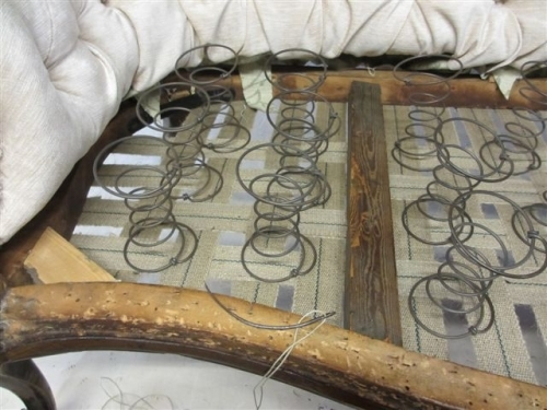 Chaise longue - Springs being stitched in
