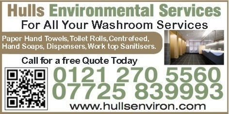 Hulls Environmental Services Van Sign Waskroom