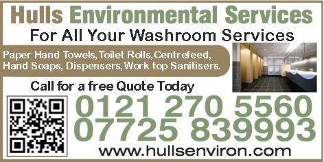 Hulls Environmental Services Van Sign Waskroom