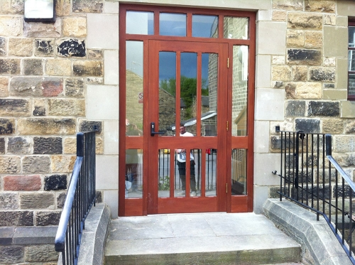 Purpose made joinery (Vestry door on a church)