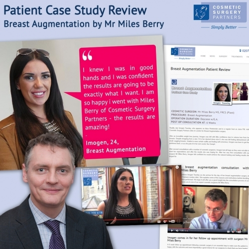 Surgeon Miles Berry breast augmentation patient case study