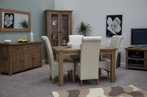 Rustic Solid Oak Dining and Living Room Furniture