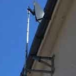 Sky Mini Dish Installed to heavy duty fixings