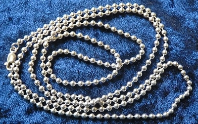34 Inch 3mm Ball Chain