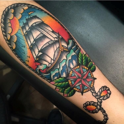 Traditional ship by Simon