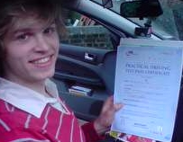 John passed on his 1st attempt and acquired his Pass Plus certificate 2 weeks after