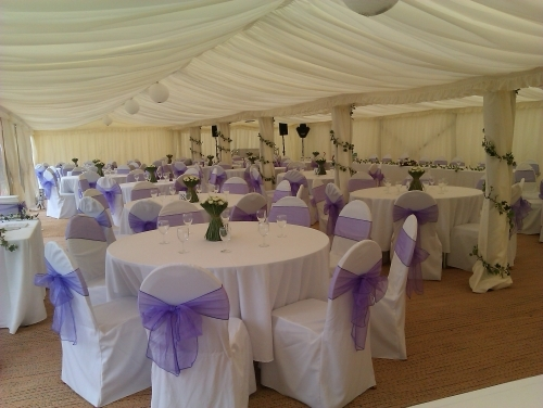 Fully Lined Marquee hire