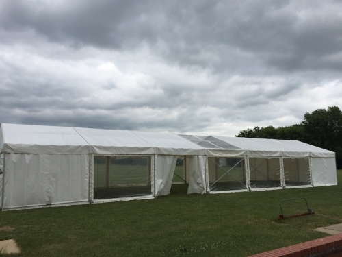 6m x 21m marquee for Sawtry Colts Football Presentation