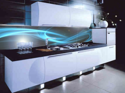 Kitchen space studio ltd kitchen furniture manufacturers - Glass wall panels kitchen ...