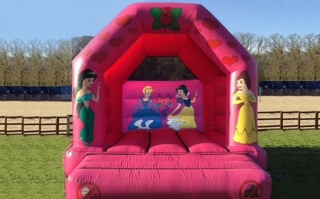 Princess castle is suitable for up to 7 years (1.3 metres tall).