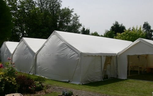4 marquees joined together Marquee Hire Peterborough