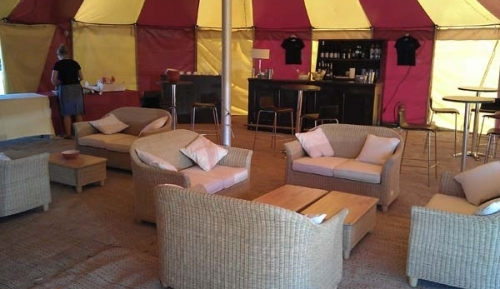 marquee lounge area