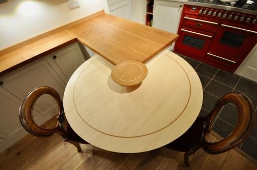 Bespoke Round Maple Wood Table