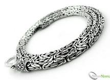 925 Sterling Silver Subtle Bali Byzantine Necklace