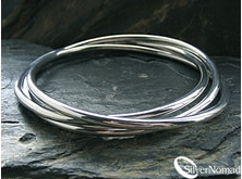 925 Sterling Silver 3 Piece Russian Bangle