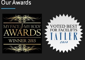 "Voted ""Best Aesthetic Clinic"" in South England and Wales 2015 / Voted best for facelifts by Tatler magazine 2014"