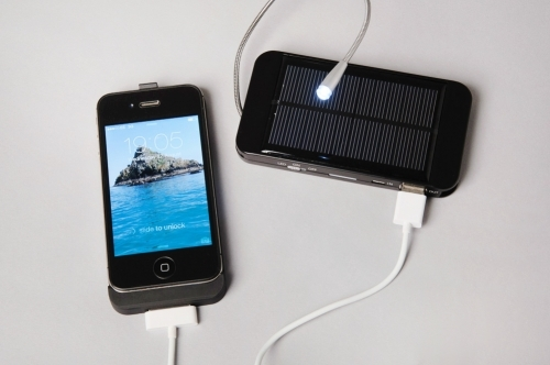 MSC Lite charging iPhone 4s with led unfolded